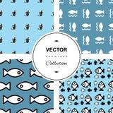 вода вектора иллюстрации рыб предпосылки голубая Стоковые Фотографии RF