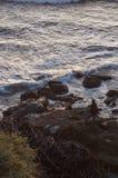 вода взгляда неба океана облака Стоковая Фотография