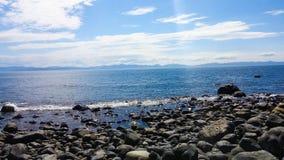 вода взгляда неба океана облака Стоковая Фотография RF