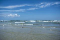 вода взгляда неба океана облака Стоковые Изображения