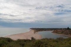 вода взгляда неба океана облака Стоковое Фото