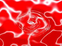 Вода вортекса красная Стоковое Изображение