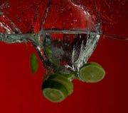 вода выплеска известки плодоовощ Стоковые Изображения