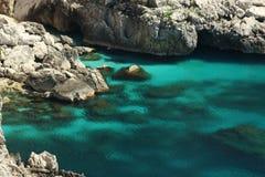 Вода выдалбливает Капри, Италию Стоковая Фотография RF