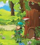 Вода жизни - принц или принцесса - замки - рыцари и фе - иллюстрация для детей Стоковое фото RF