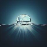 вода замерли падением, котор Стоковое Изображение