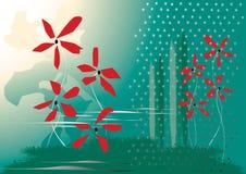 вода зеленого настроения красная Стоковое Фото