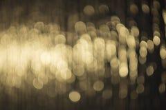 Вода золота освещает предпосылку Стоковая Фотография RF