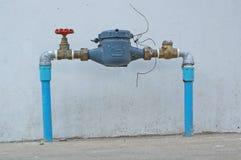 вода измеряя метра подачи Стоковое фото RF
