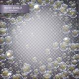 вода изолированная пузырями Стоковые Фото