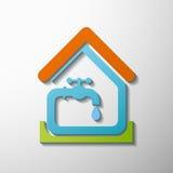 Вода из крана шток померанца иллюстрации предпосылки яркий Стоковая Фотография RF