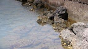 Вода на Средиземном море, южной Франции видеоматериал