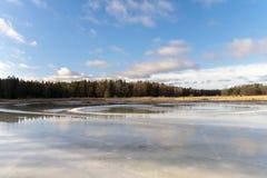 Вода на льде Стоковое Изображение RF