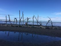 Вода Новая Зеландия hokitika пляжа Стоковое Фото