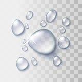 вода падения прозрачная иллюстрация вектора