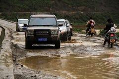 вода перемещения дороги лужка автомобиля Стоковое Изображение RF