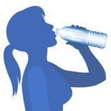 Вода питья женщины concept healthy lifestyle вектор бесплатная иллюстрация