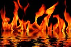 вода пожара Стоковые Изображения