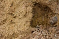 Вода почвы выветрилась утес Стоковые Фотографии RF
