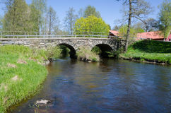 Вода под stonebridge Стоковая Фотография