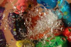Вода, предпосылка, фон, брызг Стоковая Фотография