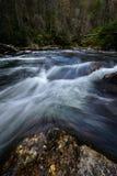 Вода пропуская на реке Chattooga Стоковое фото RF