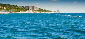Вода пляжа Панама (город), океан, США, берег, много, строка Стоковое Фото