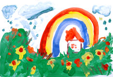 вода руки чертежа цвета Стоковые Изображения