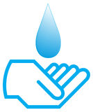 вода руки Стоковое Фото