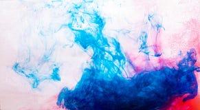 вода синих чернил красная Стоковые Фото