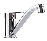 Вода смесителя холодная горячая Современная ванная комната faucet Кран кухни I Стоковое фото RF