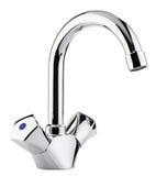 Вода смесителя холодная горячая Современная ванная комната faucet Кран кухни I Стоковое Изображение