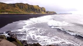 Вода со льдом Исландии сток-видео