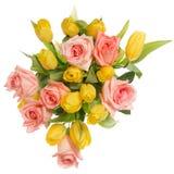 вода тюльпанов роз картины цвета букета Стоковые Фото