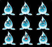 вода усмешек предпосылки черная шаловливая Стоковое Фото
