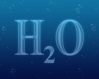 вода формулы h2o Стоковые Фотографии RF
