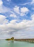 Вода Флорида пристани пляжа Стоковые Изображения