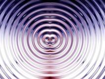 Вода цвета звенит предпосылка влияния Стоковая Фотография