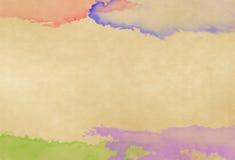 Вода цвета на старой бумаге иллюстрация вектора