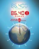 Во-вторых больше, атомные часы, секунда перескакивания Стоковое Изображение RF
