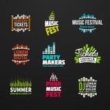 Во-вторых большой вектор логотипа выравнивателя музыки комплекта иллюстрация вектора