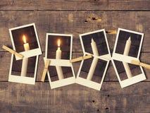 Во-вторых горение свечи, предпосылка пришествия Стоковая Фотография RF