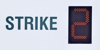 во-вторых забастовка Стоковое фото RF