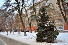 Волгоград, взгляд зимы Стоковое Фото