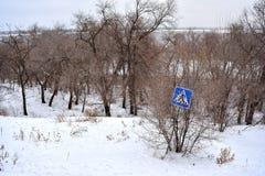 Волгоград, взгляд зимы Стоковые Фото
