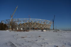 Волгоград, здание стадиона Стоковое фото RF