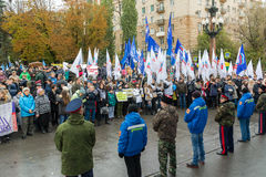Волгоград, Россия - 4-ое ноября 2016 Праздновать день национального единства 4-ое ноября Стоковые Изображения