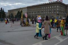 Волгоград, Maslenitsa 2017 Стоковая Фотография RF