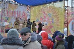 Волгоград, Maslenitsa 2017 Стоковые Фото