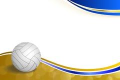 Волейбола спорта предпосылки иллюстрация рамки шарика абстрактного голубая желтая иллюстрация вектора